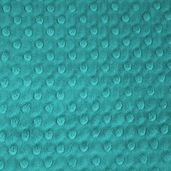 Dimple Minky Polyester Fabric - Teal