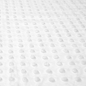 Dimple Minky Polyester Fabric - White