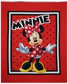 Disney Minnie Loves to Shop Panel Cotton Fabric - Red
