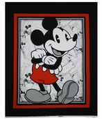 Disney Vintage Comic Panel Cotton Fabric - Red