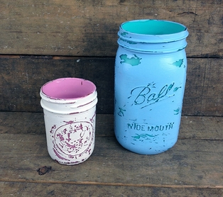 Distressed Canning Jars