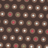 Domestic Diva Cotton Fabric - Brown
