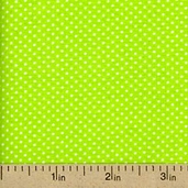 Dot Kitty Polka Dot Cotton Fabric - Green