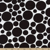 Dotcom Large Dots Cotton Fabric - Black 35998-1
