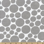 Dotcom Large Dots Cotton Fabric - Grey 35998-9