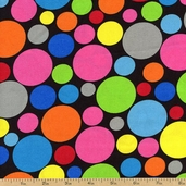 Dotcom Large Dots Cotton Fabric - Multi 35997-1