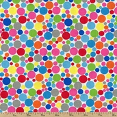 Dotcom Small Dots Cotton Fabric - White 35994-7
