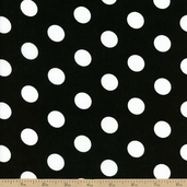 Dots and Stripes Large Dot Cotton Fabric - Black