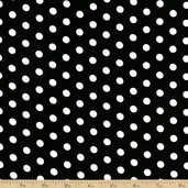 Dots and Stripes Small Dot Cotton Fabric - Black