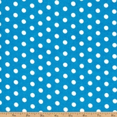 Dots and Stripes Small Dot Cotton Fabric - Blue