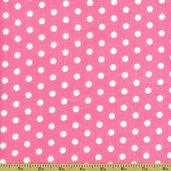 Dots and Stripes Small Dot Cotton Fabric - Pink