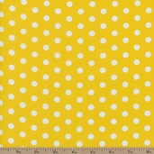Dots and Stripes Small Dot Cotton Fabric - Yellow