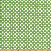 Dots Cotton Fabric - Green C350-30-GREEN