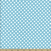 Dots Cotton Fabric - Small - Aqua C350-20
