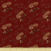 Double Chocolat Cotton Fabric - Floral Toss - Rouge 4092-12