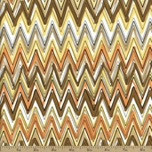 Down Under Cotton Fabric - Brown 05254-07