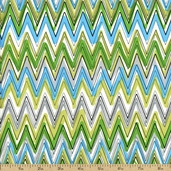 Down Under Cotton Fabric - Green 05254-44