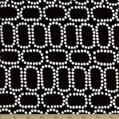 Downtown Ringlets Cotton Fabric - Black