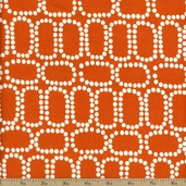 Downtown Ringlets Cotton Fabric - Orange