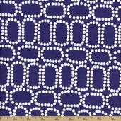 Downtown Ringlets Cotton Fabric - Royal