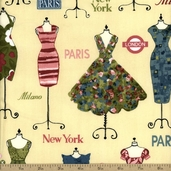 Dress Up 2 Cotton Fabric - Vintage AFD-13061-200