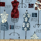 Dress Up 2 Cotton Fabric - Vintage AFD-13062-200