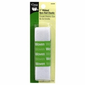 Dritz 1 inch Ribbed Non-Roll Elastic - White