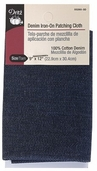 Dritz Denim Iron-On Patching Cloth Dark Blue