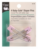 Dritz Diaper Pins Baby Safe 4ct
