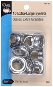 Dritz Extra-Large Nickel Eyelets 10ct