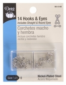 Dritz Hooks and Eyes Size 0 - Silver
