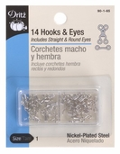 Dritz Hooks and Eyes Size 1 - Silver