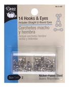 Dritz Hooks and Eyes Size 2 - Silver