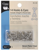 Dritz Hooks and Eyes Size 3 - Silver