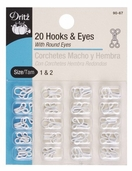 Dritz Hooks and Eyes - White