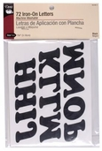 Dritz Iron-On Letters 1-1/4 in - Black