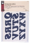 Dritz Iron-On Letters 1-1/4 in - navy