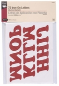 Dritz Iron-On Letters 1-1/4 in - Red