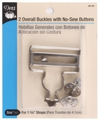 Dritz Overall Buckles including No-Sew Buttons - Nickel