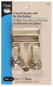Dritz Overall Buckles With No-Sew Buttons - Gold