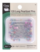 Dritz Pearlized Pins Long 120ct Size 24