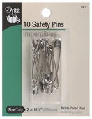 Dritz Safety Pins 10ct - Nickel
