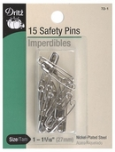 Dritz Safety Pins 15ct Size 1 - Nickel