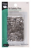 Dritz Safety Pins 50ct Assorted Sizes - Nickel