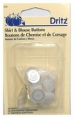 Dritz Shirt and Blouse Buttons - White