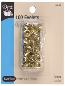 Dritz Small Eyelets - 100ct  Brass