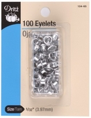 Dritz Small Eyelets - 100ct  Nickel