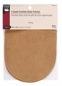 Dritz Suede Cowhide Elbow Patches - Beige
