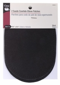 Dritz Suede Cowhide Elbow Patches - Black
