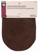 Dritz Suede Cowhide Elbow Patches - Dark Brown